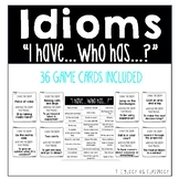 Idioms I have, Who Has Game Cards