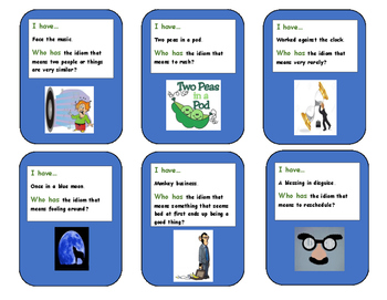 """Idioms : """"I have...who has"""""""