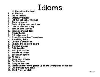 Idioms, Idioms, Idioms!