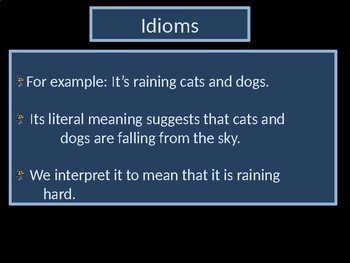 Idioms Introduction Power Point