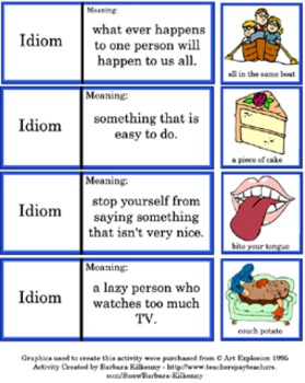"Literacy Center - Idioms - ""Keep Your Eye on Idioms"""