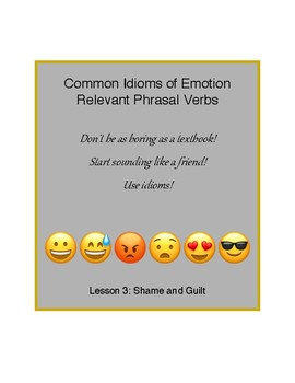 Idioms of Emotion - Lesson 3: Guilt and Shame