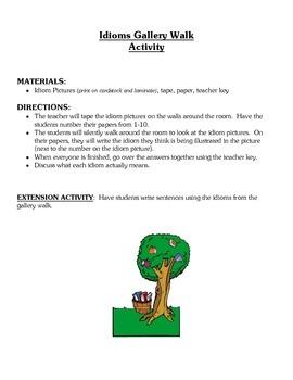 Idioms Lesson Activities - Figurative Language