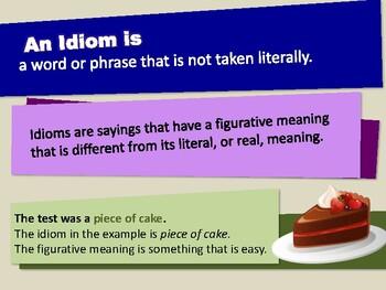 Idioms - Lesson Presentation (Figurative Language)