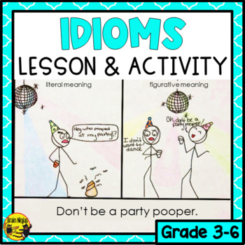 Idioms Mini-Lesson & Drawing Activity