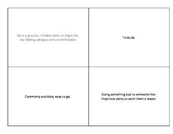 Idioms List - Answer Key