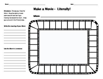 Idioms: Make a Movie - Literally