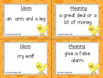 Idioms Match Task Cards
