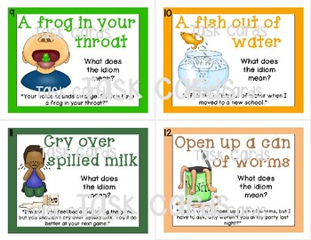 Idioms -- Matching Literal and Figurative Meaning Puzzle Pieces