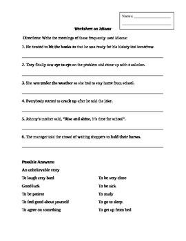 Idioms - Matching