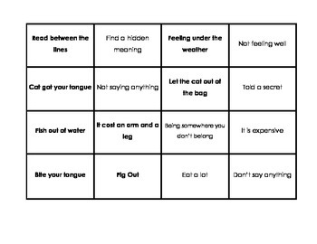 Idioms Matching Game