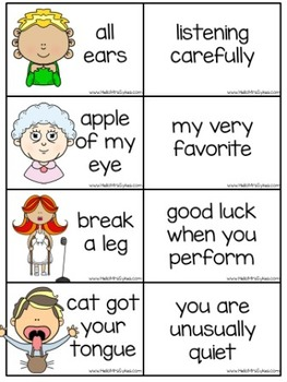 Idioms Matching Game for grades 2-4