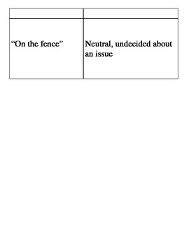 Idioms Matching Work