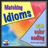 Idioms Worksheets - Matching with Color Coding