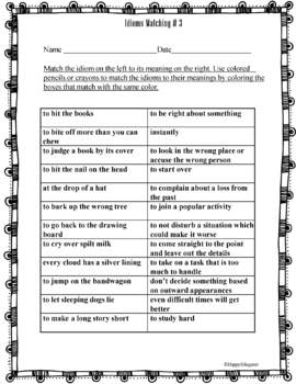 Figurative Language Coloring Pages or Mini Posters | Figurative ... | 350x268