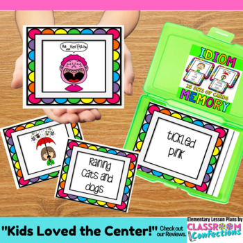 Idioms Game: Literacy Center: Grammar Game: 4th grade, 3rd, 5th
