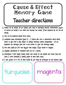 Idioms Memory or Matching Game Center