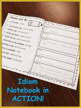 Idioms Notebook (with Assessments)!