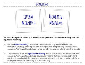 Idioms- Origins and Illustrations Activity