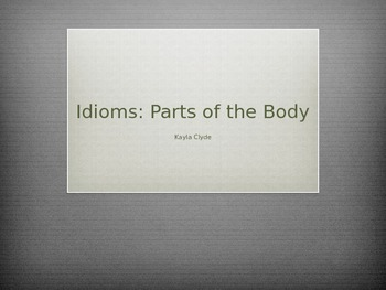 Idioms: Parts of the Body