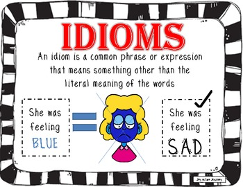 idioms poster package by joy in the journey by jessica