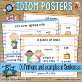 Idiom Posters with Pictures, Definitions and Examples