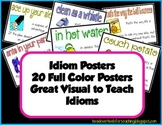 Idiom Posters {Set 1 with Pre & Post Test}