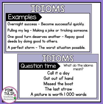 Idioms PowerPoint - For shared/modeled reading