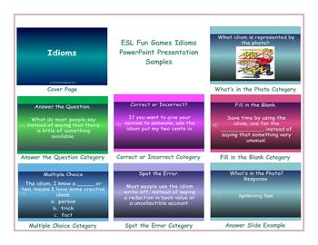 Idioms PowerPoint Presentation