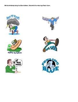 Idioms Practice