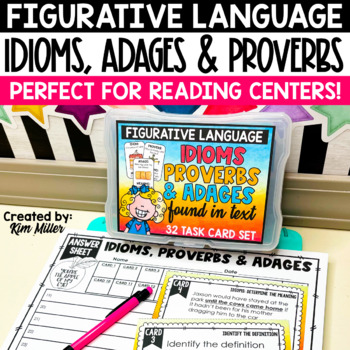 Idioms, Proverbs, and Adages Task Cards
