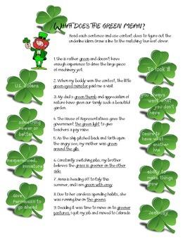 Idioms- Saint Patrick's Day