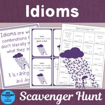 Idioms Scavenger Hunt