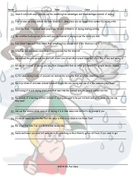 Idioms Scrambled Sentences Worksheet