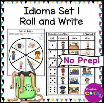 Idioms Set 1 Roll and Spin an Idiom Sentence Writing