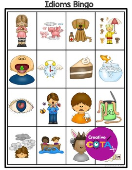 Idioms Set 1 Writing Worksheets and Activities Freebie