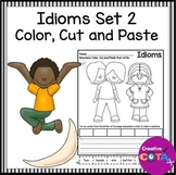 Idioms Set 2 Color Cut and Paste Sentence Writing