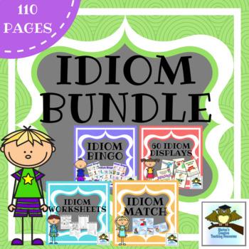 Idioms Bundle Anchor Chart, Displays, Games, Activities}