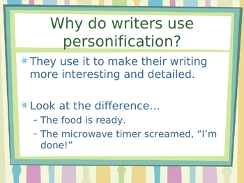 Idioms, Similes, Metaphors and Personification PowerPoint