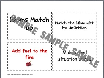 Idioms Sort Cards Set 1