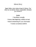 Idioms Story Task & Rubric