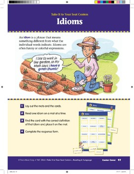 Idioms (Take It to Your Seat Centers)