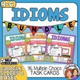 Idioms Task Cards: 3 SET BUNDLE, 96 Cards Total, Color and B&W