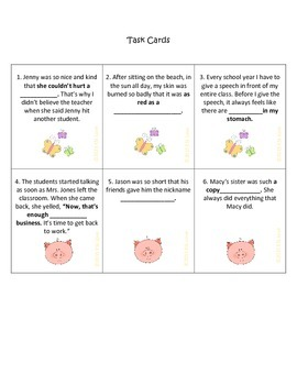 Idioms Task Cards: Animal Themed