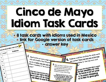 Idioms Task Cards / Cinco de Mayo Task Cards