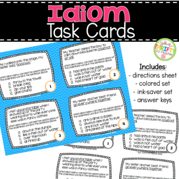 Idioms Task Cards and Scoot