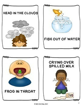 ESL Idioms- Task cards, Worksheets & Activities