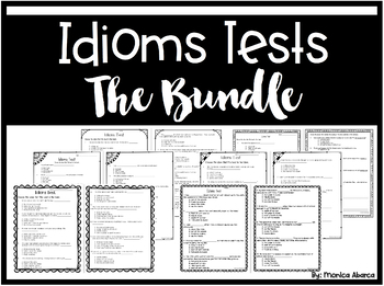 Idioms Tests (The Bundle)