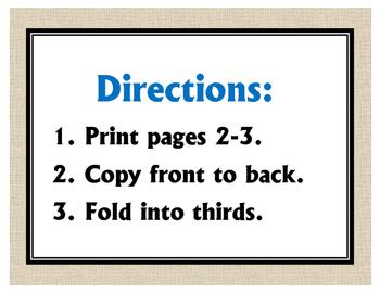 Idioms Tri-Fold FREEBIE