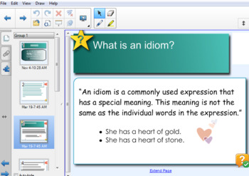 Idioms Unit: Smart Notebook- Lesson 1 of 3